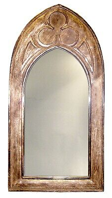 £29.95 • Buy 61cm Wall Mirror Arched Gothic Style Solid Mango Wood Frame