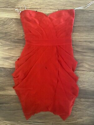 Celeb Boutique Red Bandage Dress Size Small  • 5£