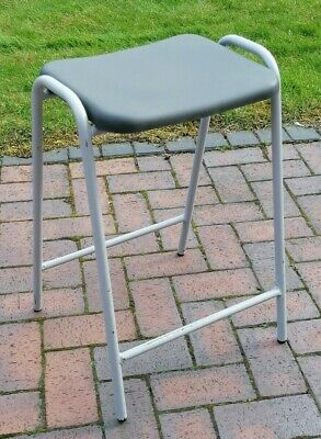 £15 • Buy Vintage Retro Robin Day Stool Hille Stackable Flat Top School Science Lab Stool