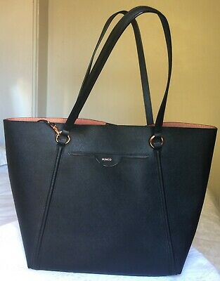 AU62 • Buy Mimco Phenomena Large Tote Black Hand Bag With Rose Gold Fittings – As New