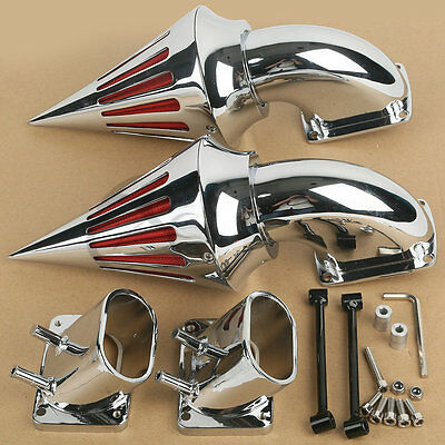 AU129.13 • Buy Chrome Spike Air Cleaner Intake Filter Fit For Suzuki Boulevard M109 M109R