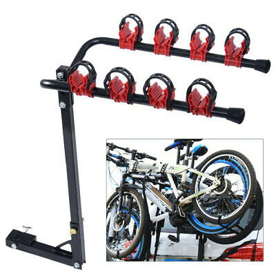 AU66.49 • Buy 4 Bicycle Carrier Car Rear Mount Bike Rack 2  Towbar Hitch Mount Steel Foldable