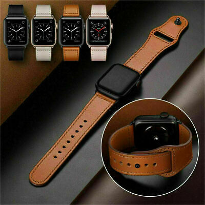 AU12.59 • Buy For Apple Watch Band Leather Strap IWatch Series 6 5 4 3  38 40 42 44mm AU STOCK