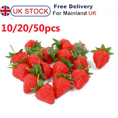 £5.58 • Buy Artificial Strawberry Fake Fruit Display Kitchen Home Food Table Decorations UK