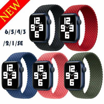 AU11.89 • Buy [Real Size] For Apple Watch 6 SE 5 4 3 2 Braided Solo Loop Strap Nylon Band AU