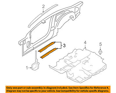 $94.51 • Buy FORD OEM 05-09 Mustang-Door Sill Plate Left 5R3Z6313209BAB