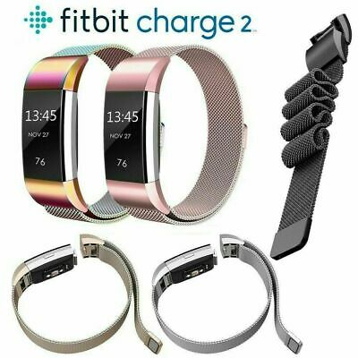 AU10.49 • Buy For Fitbit Charge 2 Band Metal Stainless Steel Milanese Loop Wristband Strap AU