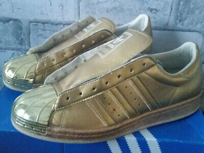 AU44.45 • Buy Adidas Superstar 80's Trainers Metallic Gold With Metal Toe In Size 6 Uk
