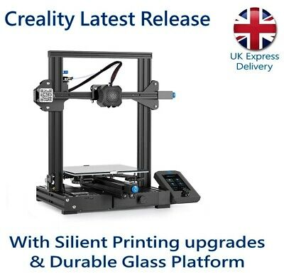 Creality 3D Ender-3 V2 3D Printer With Latest Factory Upgrades • 209.99£