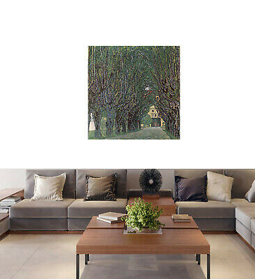 $ CDN92.31 • Buy Gustav Klimt Way To Park Framed Vintage Canvas Painting Art Print 24  X 24