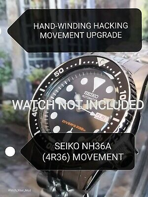$ CDN181.50 • Buy Seiko SKX013 Movement Upgrade To NH36 (4R36) HAND-WINDING HACKING MOD SKX13