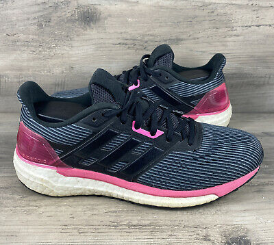 $ CDN50.12 • Buy Adidas Women's Boost Running Shoes Size 7.5 Black Pink Athletic Sneakers BB3483