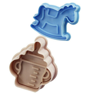 £3.18 • Buy 4PCS/Set Stamp Plunger Cutter Cookie Mold DIY Hand Press 3D Baby Clothes Shower