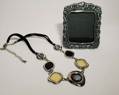 $ CDN2.51 • Buy Black Velvet Necklace By Lia Sophia With Small Picture Frame Lot Of 2 Items