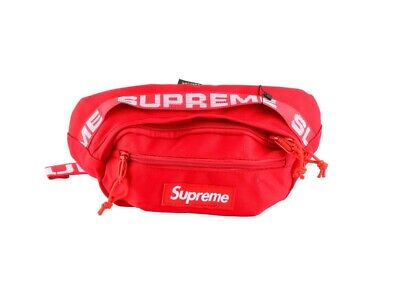 $ CDN56.39 • Buy Supreme SS18 Red Waist Bag Fanny Pack Cordura Backpack Money Pouch FW18 Travel