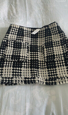 £11 • Buy River Island Dog Tooth Skirt Size 10 Brand New With Tags