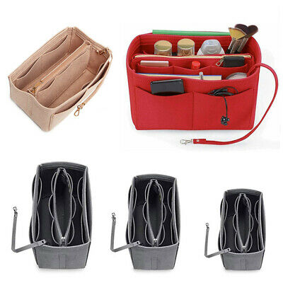 AU18.59 • Buy Travel Organiser Handbag Felt Bag Tote Insert Liner Purse Pouch Women Storage