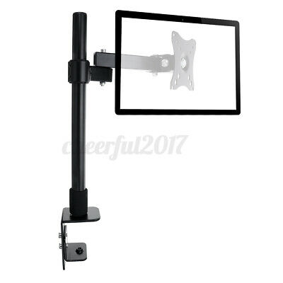 £12.54 • Buy Single Arm Desk Mount LCD Computer Monitor Bracket Clamp Stand 14 -27  Screen TV