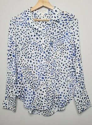 $ CDN37.58 • Buy Anthropologie Cloth & Stone Top Size Small Shirt Womens Long Sleeve White Blue
