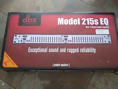 AU122.51 • Buy DBX 215s EQ Dual 15-band Graphic Equalizer