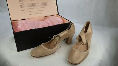 £89.99 • Buy Repetto Leather Palest Old Gold Dancing Mary Jane Mid Block Heel Shoes UK 7 New