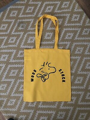 £4.99 • Buy Snoopy  Wood Stock Canvas Tote Shopping Bag