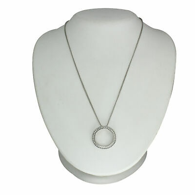 $ CDN18.75 • Buy HSN Silvertone Chain Crystal Pendant 17  Necklace SOLD OUT