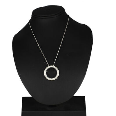 $ CDN37.49 • Buy Hsn Silvertone Round Clear Crystal Round Pendant Link Necklace $198