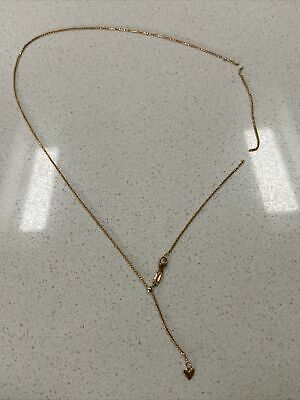 AU145 • Buy 9ct Gold Stamped 375 Italy Chain With Gold Heart Pendant Attached Repair Needed