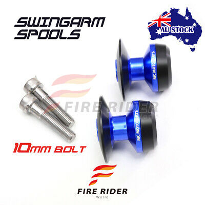 AU26.25 • Buy For Kawasaki Z750R 01-15 08 09 10 11 12 13 14 10MM CNC Blue Swingarm Spools Kit