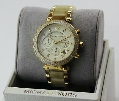 $ CDN149.39 • Buy New Authentic Michael Kors Parker Gold Crystals Chronograph Women's Mk5632 Watch