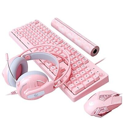 AU110.75 • Buy Keyboard Mouse Set Wireless And 2.4 Combo Pc Gaming Laptop Pink Mechanical