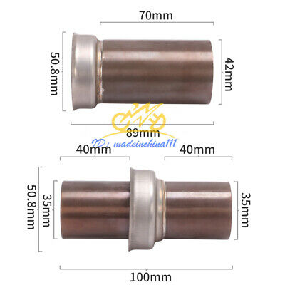 AU15.54 • Buy Motorcycle Exhaust DB Killer Removable Catalyst Silencer For Muffler Link Pipe
