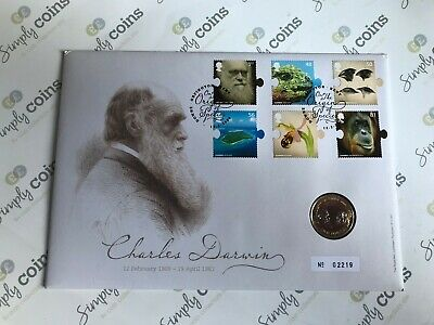£34.50 • Buy ~Simply Coins~ 2009 CHARLES DARWIN 2 TWO POUND COIN BU BUNC FIRST DAY COVER FDC