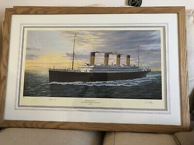 £150 • Buy Titanic Cherbourg Bound Limited Print Framed
