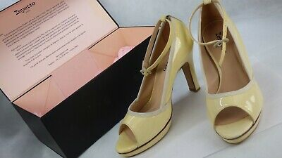 £49.99 • Buy Repetto Patent Leather Open Toe Nymphe Sand Court Shoes Pumps Heels UK 6 New