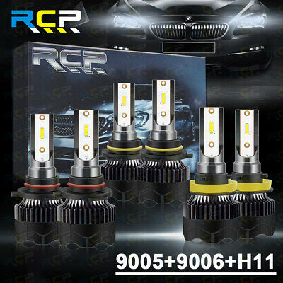 AU57.65 • Buy 9005+9006+H11 Combo LED Headlight Kits High/Low Beam Bulbs 6000K 120+Fan Cooling