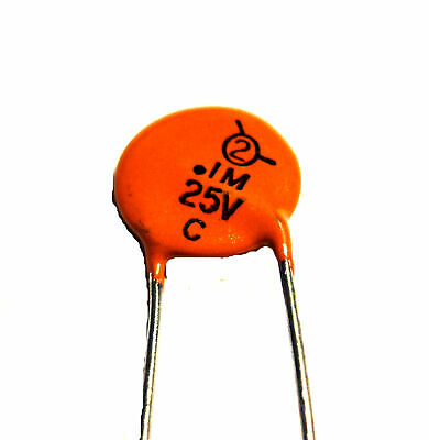 $5.99 • Buy 0.1uF, 25V, Disc Ceramic Capacitor,