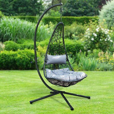 £219.99 • Buy Al Fresco New York Hanging Chair With Stand & Cushions Free 48hr Delivery
