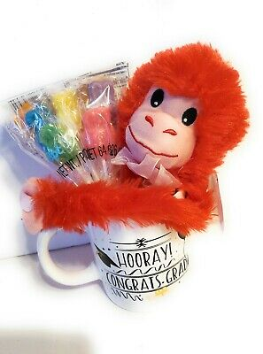 $ CDN8.45 • Buy Graduation Gift For Her Him - Congrats Grad Mug, Plush Monkey And Candy Bouquet