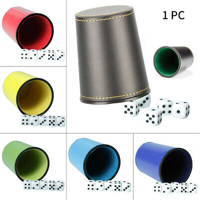 £3.93 • Buy Shaker Game Supplies Dice Cup Professional Bar KTV Lined Party PU Leather Clubs