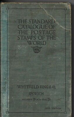 £0.99 • Buy STAMP CATALOGUE 1933, POSTAGE STAMPS OF THE WORLD. (WHITFIELD KING & Co.) (1562)