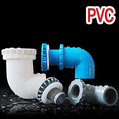 £5.15 • Buy PVC Elbow 90° Fittings Tank Connector/Bulkhead Pipe Fitting For Fish Pond Filter