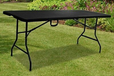 £44.95 • Buy 6ft Heavy Duty Folding Table Portable Rattan Camping Garden Party Catering