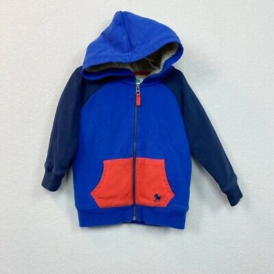 £16.07 • Buy Mini Boden Colorblock Shaggy Sherpa Lined Full Zip Hoodie Toddler Boy Size 3-4