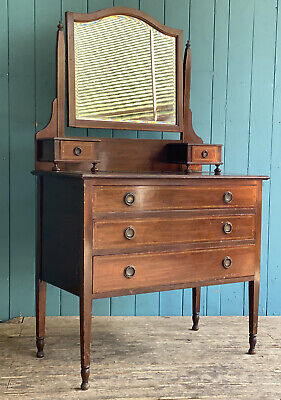 £120 • Buy Vintage Antique Edwardian Mahogany Dressing Table Chest Of Drawers DELIVERY*🚚