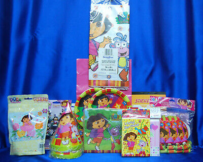 Dora The Explorer Party Set # 16  Cups Plates Napkins Tablecover Balloon Toppers • 28.27£