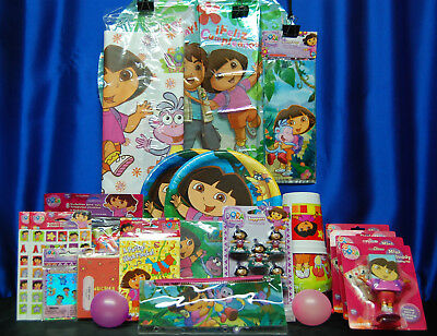 Dora The Explorer Party Set # 26 Hats Plates Tablecover Invites Balloon Stickers • 35.34£