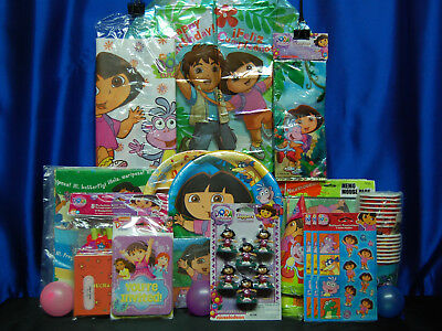Dora The Explorer Party Set # 21  Cups Plates Napkins Tablecover Balloon Sticker • 32.51£