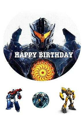£4.50 • Buy TRANSFORMERS CAKE And Cupcake TOPPER ROUND PERSONALISED EDIBLE ICING
